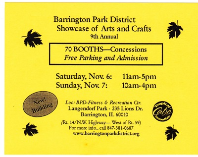 Barrington Show Card